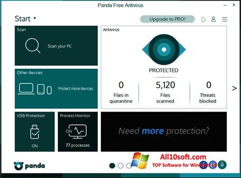 Captură de ecran Panda pentru Windows 10