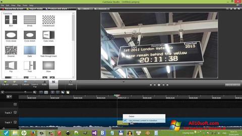 Captură de ecran Camtasia Studio pentru Windows 10