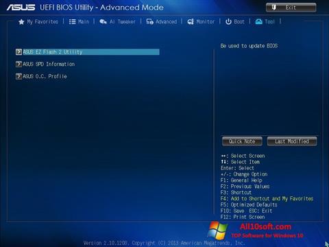 Captură de ecran ASUS Update pentru Windows 10