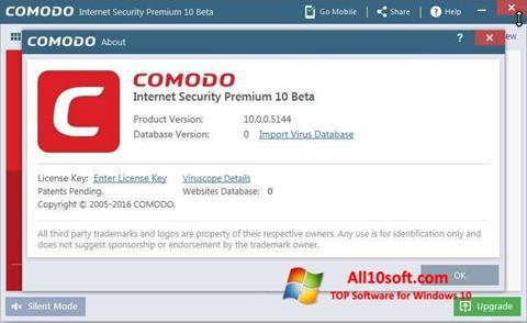 Captură de ecran Comodo pentru Windows 10