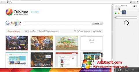 Captură de ecran Orbitum pentru Windows 10