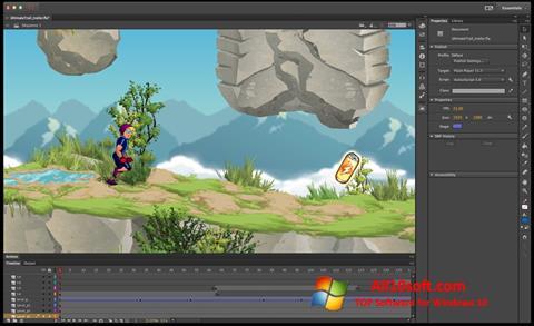 Captură de ecran Adobe Flash Professional pentru Windows 10
