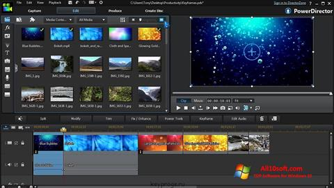 Captură de ecran CyberLink PowerDirector pentru Windows 10