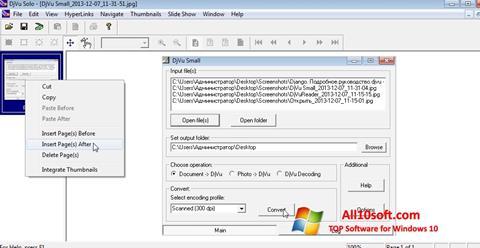 Captură de ecran DjVu Solo pentru Windows 10