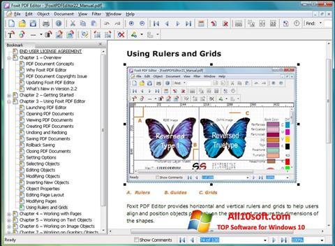 Captură de ecran Foxit PDF Editor pentru Windows 10
