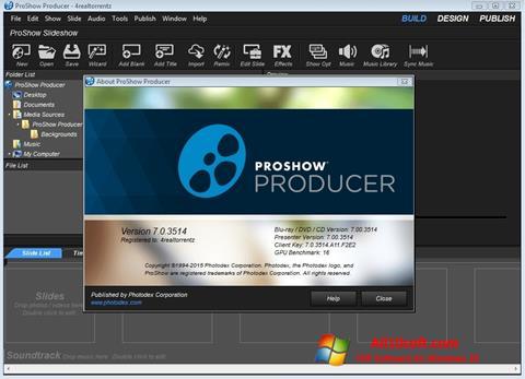 Captură de ecran ProShow Producer pentru Windows 10