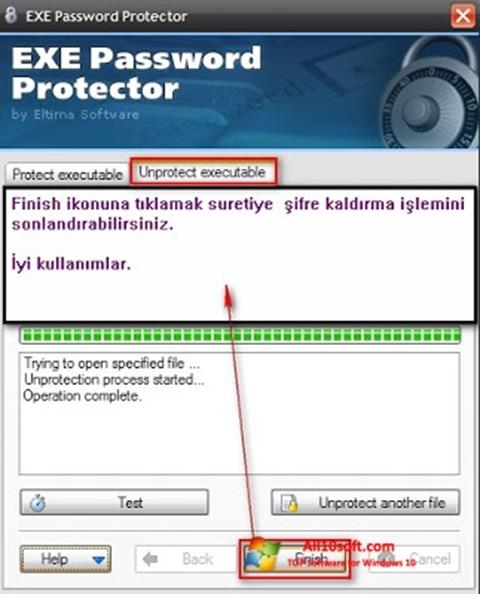 Captură de ecran EXE Password pentru Windows 10
