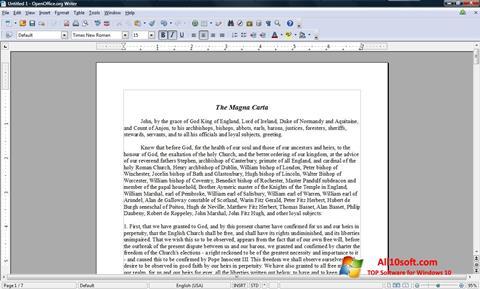 Captură de ecran OpenOffice pentru Windows 10