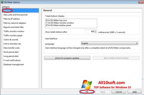Captură de ecran DU Meter pentru Windows 10