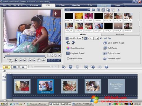 Captură de ecran Ulead VideoStudio pentru Windows 10