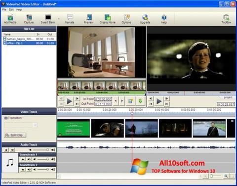 Captură de ecran VideoPad Video Editor pentru Windows 10
