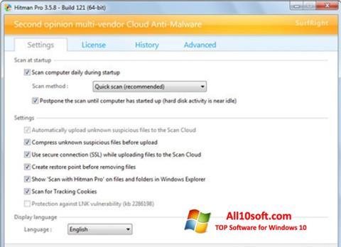 Captură de ecran HitmanPro pentru Windows 10