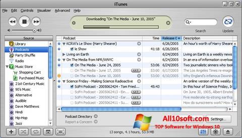 Captură de ecran iTunes pentru Windows 10