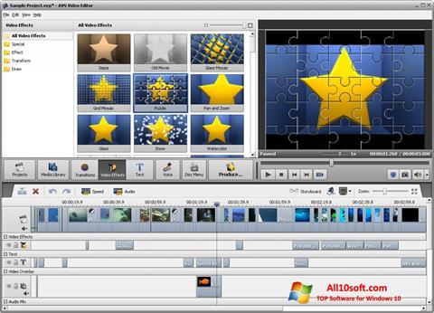 Captură de ecran AVS Video Editor pentru Windows 10