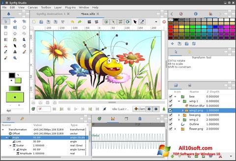 Captură de ecran Synfig Studio pentru Windows 10