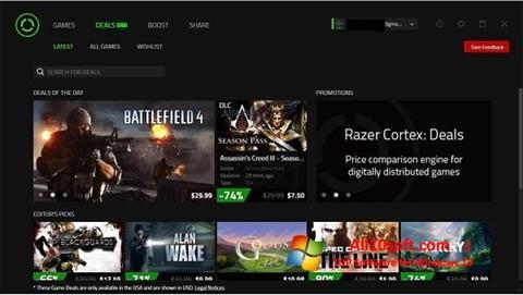 Captură de ecran Razer Cortex pentru Windows 10
