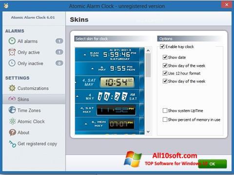 Captură de ecran Atomic Alarm Clock pentru Windows 10