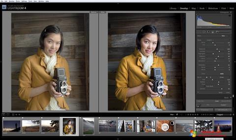 Captură de ecran Adobe Photoshop Lightroom pentru Windows 10