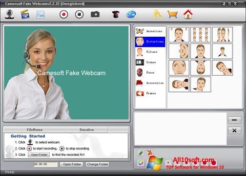 Captură de ecran Fake Webcam pentru Windows 10