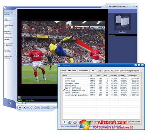 Captură de ecran SopCast pentru Windows 10