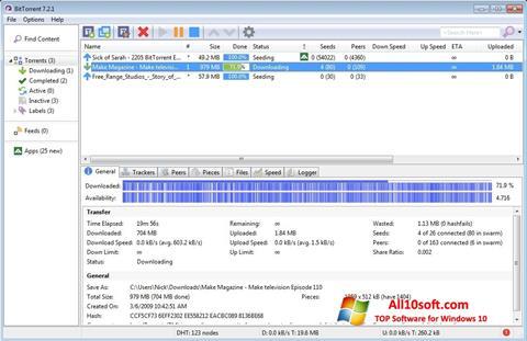 Captură de ecran BitTorrent pentru Windows 10