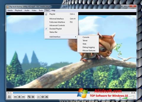 Captură de ecran VLC Media Player pentru Windows 10