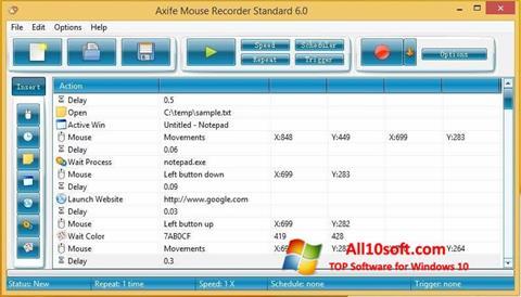 Captură de ecran Mouse Recorder pentru Windows 10
