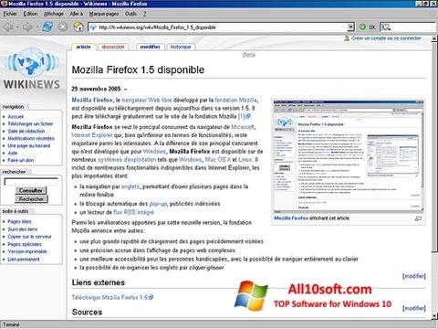 Captură de ecran Mozilla Firefox pentru Windows 10