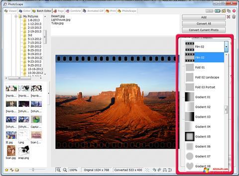 Captură de ecran PhotoScape pentru Windows 10