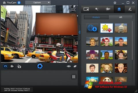 Captură de ecran CyberLink YouCam pentru Windows 10