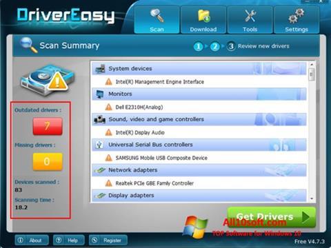 Captură de ecran Driver Easy pentru Windows 10