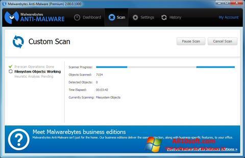 Captură de ecran Malwarebytes Anti-Malware Free pentru Windows 10