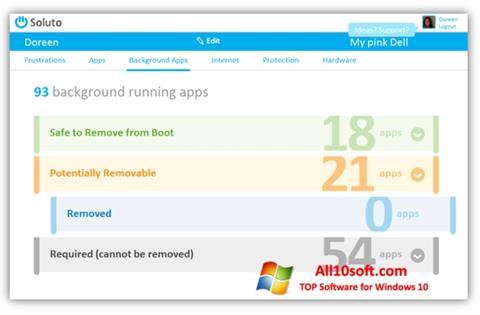 Captură de ecran Soluto pentru Windows 10