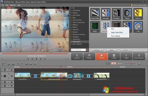 Captură de ecran Movavi Video Suite pentru Windows 10