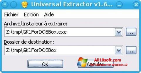 Captură de ecran Universal Extractor pentru Windows 10