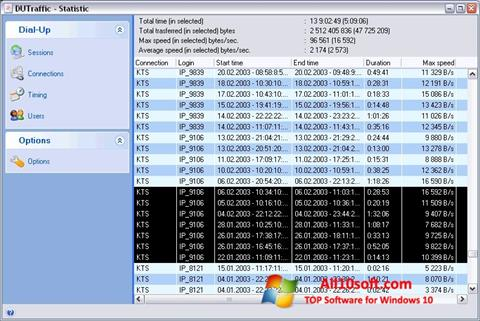 Captură de ecran DUTraffic pentru Windows 10