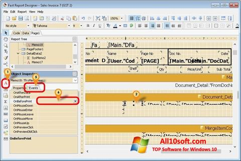 Captură de ecran FastReport pentru Windows 10