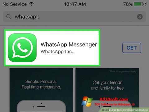 Captură de ecran WhatsApp pentru Windows 10
