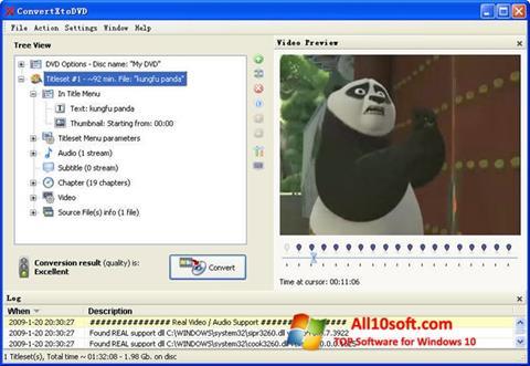 Captură de ecran ConvertXToDVD pentru Windows 10
