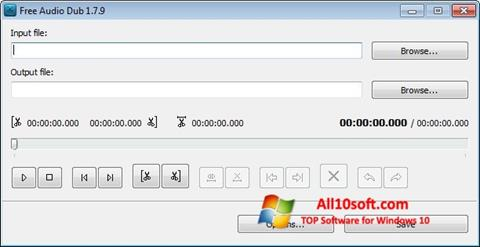 Captură de ecran Free Audio Dub pentru Windows 10