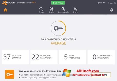Captură de ecran Avast Internet Security pentru Windows 10
