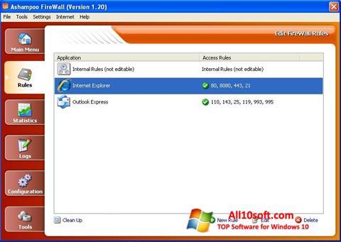 Captură de ecran Ashampoo Firewall pentru Windows 10