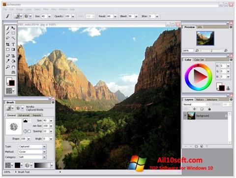 Captură de ecran Artweaver pentru Windows 10