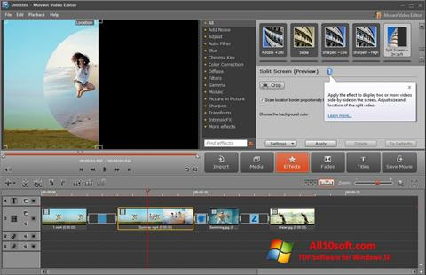 Captură de ecran Movavi Video Editor pentru Windows 10