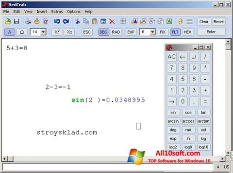 Captură de ecran RedCrab Calculator pentru Windows 10