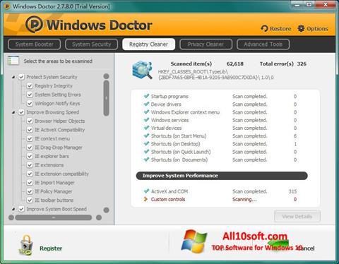 Captură de ecran Windows Doctor pentru Windows 10