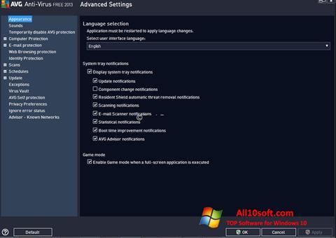 Captură de ecran AVG pentru Windows 10