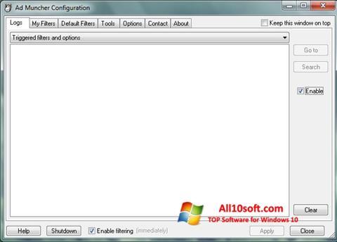 Captură de ecran Ad Muncher pentru Windows 10