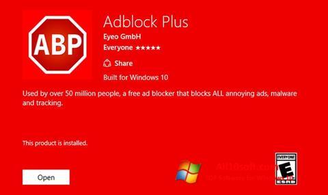 Captură de ecran Adblock Plus pentru Windows 10