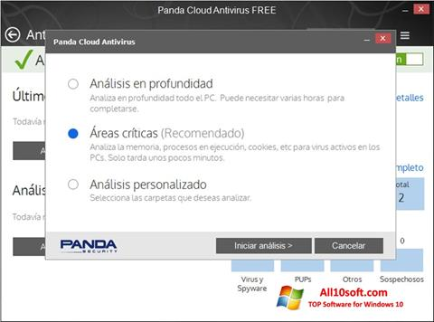 Captură de ecran Panda Cloud pentru Windows 10